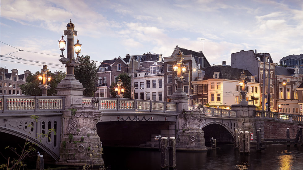 Blauwbrug in an Amsterdam Evening - Color Photo by Kaan Sensoy