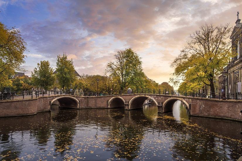 Seven Bridges Amsterdam Panorama photo by Kaan Sensoy