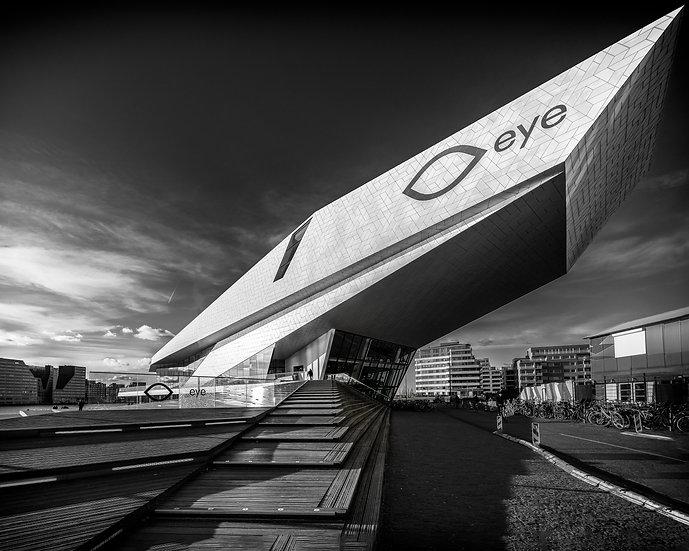 Eye Filmmuseum- Amsterdam Black and White Photo by Kaan Sensoy