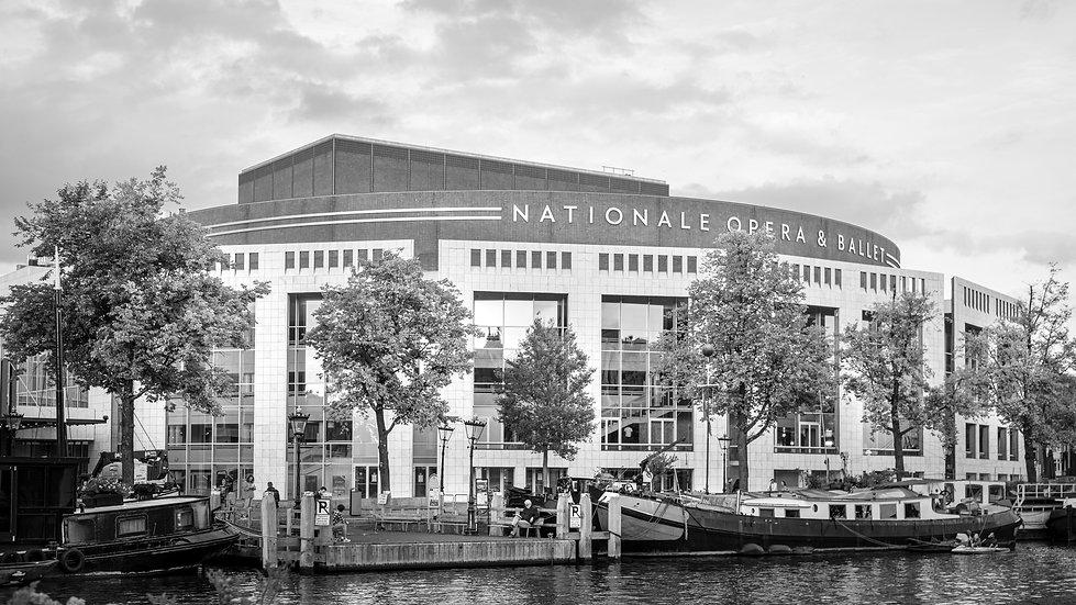 Stopera, Dutch National Opera & Ballet, Amsterdam -  Black and White photo by Kaan Sensoy