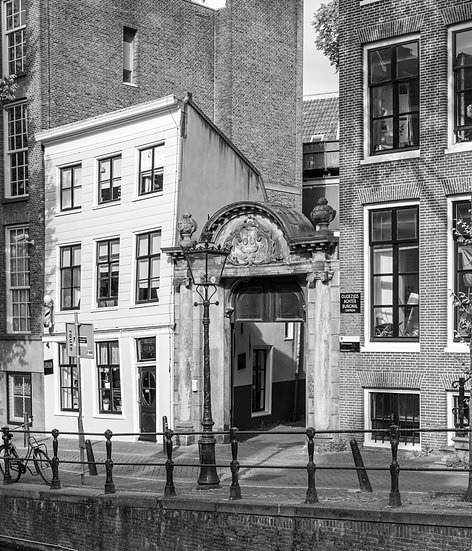 Oudemanhuispoort -The Entrance to The University of Amsterdam -  Black and White photo by Kaan Sensoy