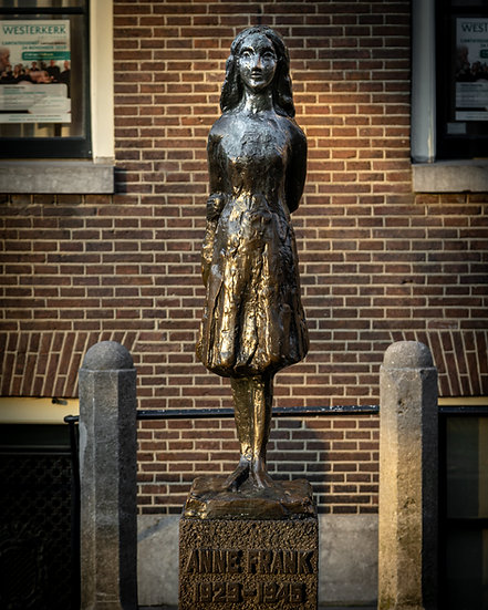 Anne Frank Monument  in Amsterdam - Color-Stock Photo-Image-by Kaan Sensoy