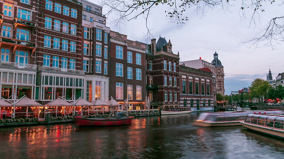 Day to Night Time-lapse in Amsterdam-4K Video-by Kaan Sensoy