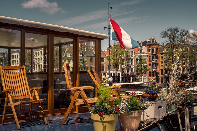Relaxing on a Houseboat in Amsterdam, Color - Royalty Free -Stock Image - Photo by Kaan Sensoy