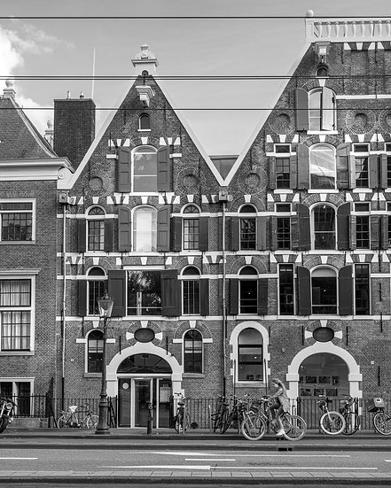 Academy of Architecture, Amsterdam -  Black and White photo by Kaan Sensoy