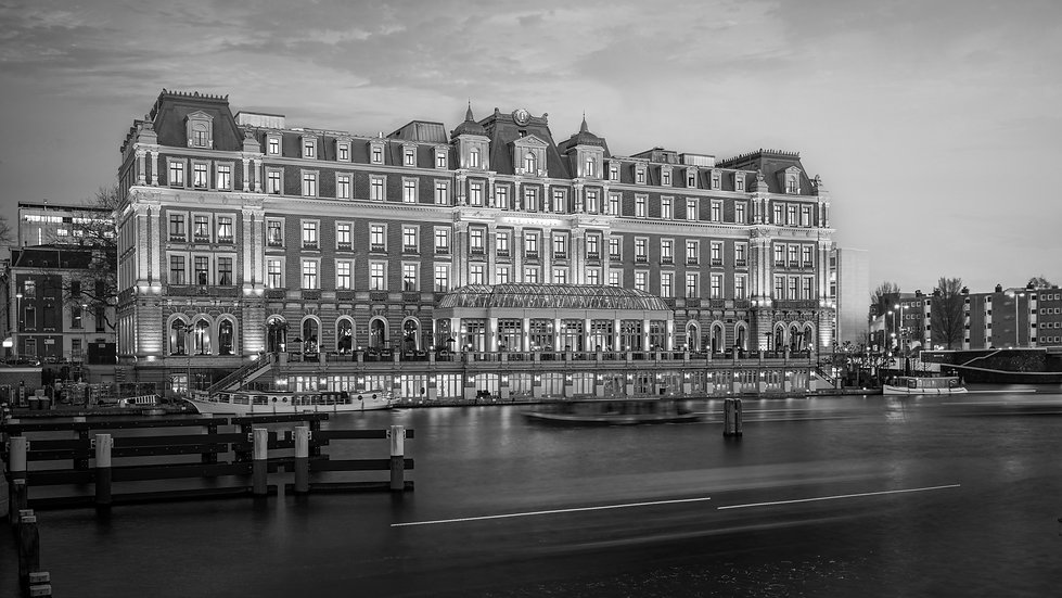 Amstel Hotel, Amsterdam -  Black and White photo by Kaan Sensoy