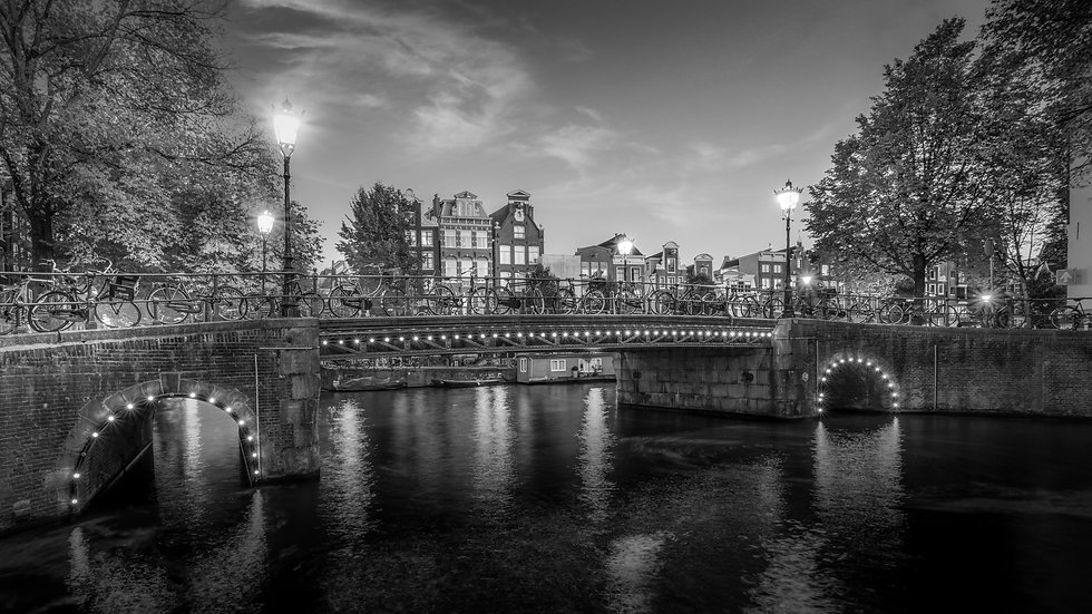 Herenmarkt,  Amsterdam-Black and white stock photo by Kaan Sensoy