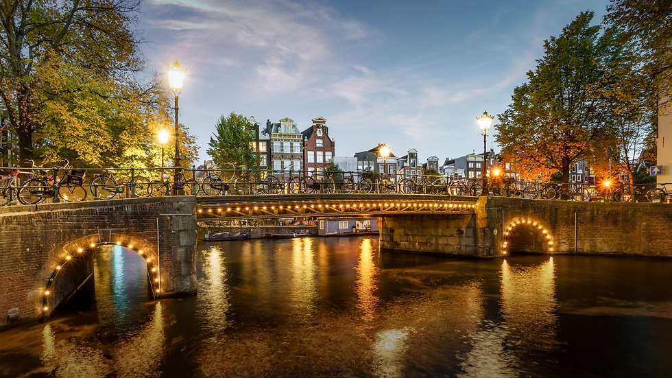 Herenmarkt,  Amsterdam - Canal view-Stock image- Photo by Kaan Sensoy