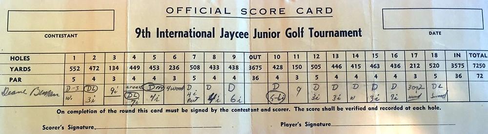 Old Golf Yardage Book