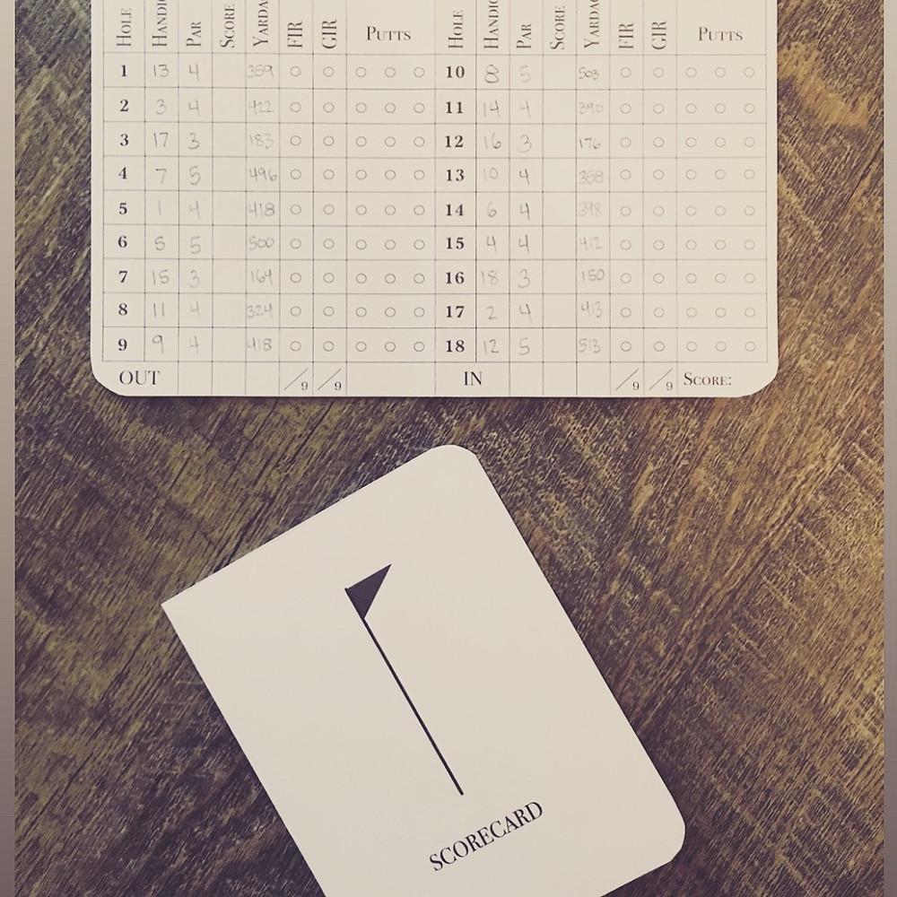 Individual golfer scorecard