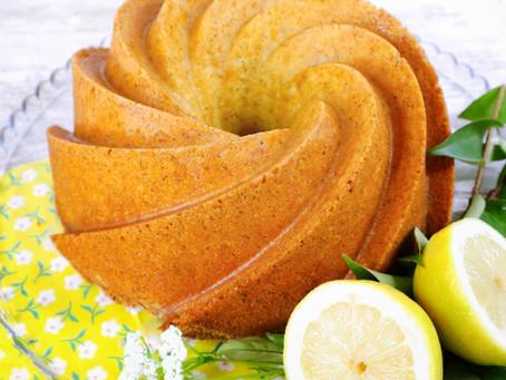 Bundt de limão e sementes de papoila