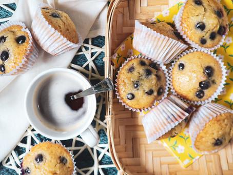 Muffins de Limão e Mirtilo