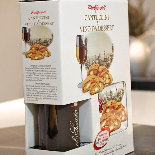 Vin Santo (18% ABV) and Classic Almond Cantuccini Gift Set 250g