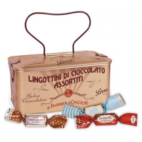 Assorted Chocolate Ingots in Rose Gold Treasure Casket 150g