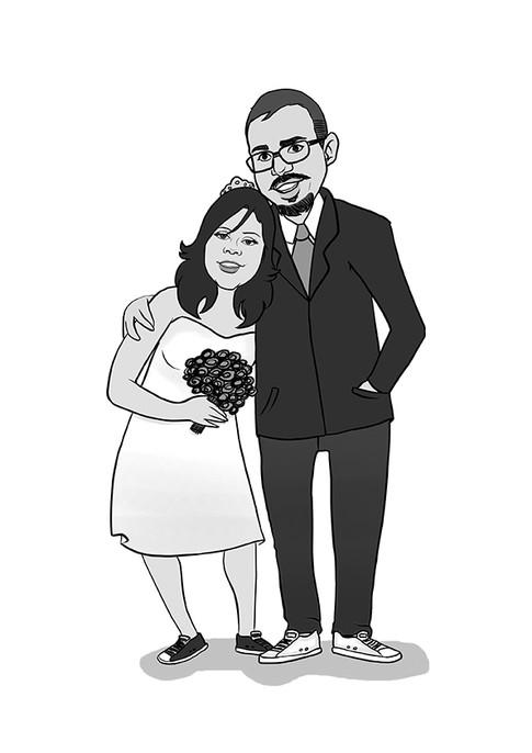Caricatura Noivos
