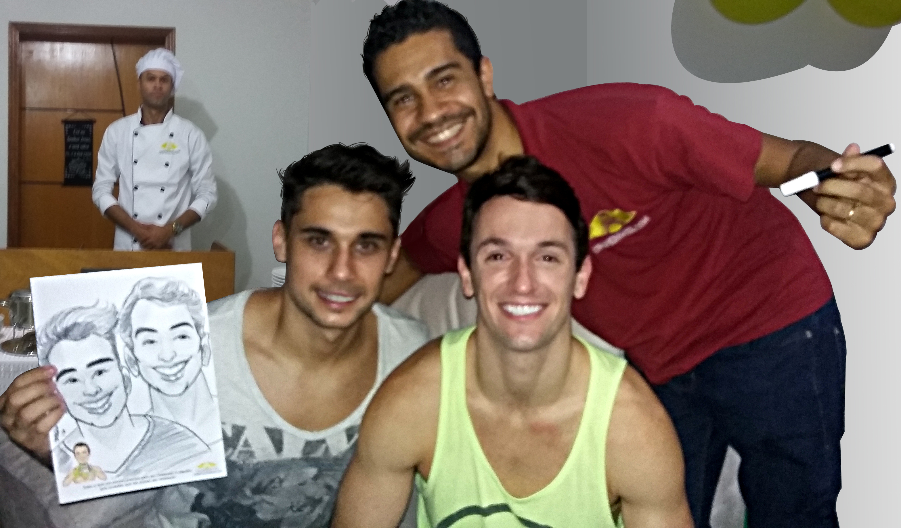 Diego Hypolito, Marcos Jorge e Joaquim