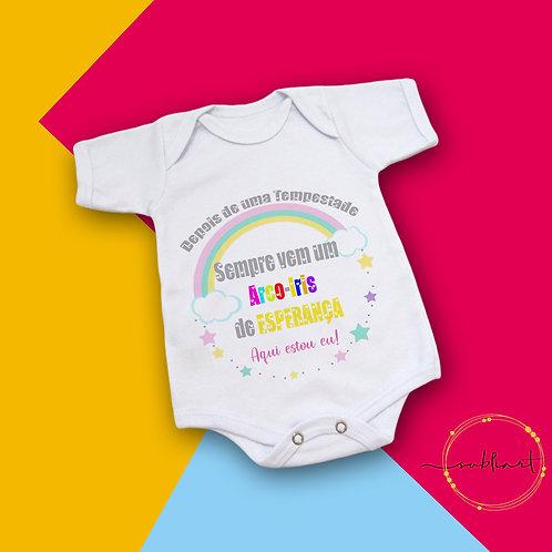 Body Bebê Arco-Íris