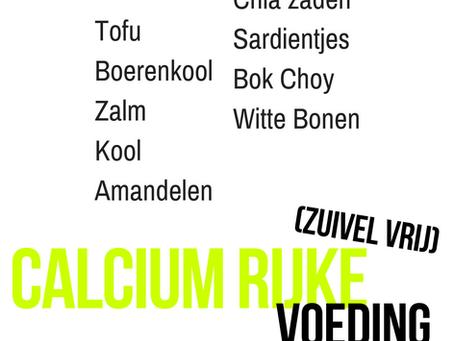Calcium rijke voeding (zuivel vrij)