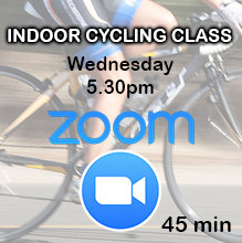 Zoom Indoor Cycling Class: Wednesday 5.30pm