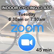 Zoom Indoor Cycling Class: Tuesday 6.30am or 7.30am