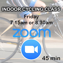 Zoom Indoor Cycling Class: Friday 7.15am or 8.30am