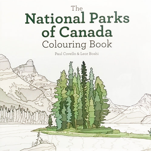 The National Parks of Canada Colouring Book