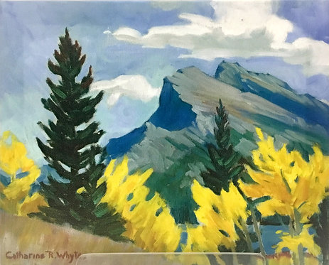 Mount Rundle, ca. 1930 - 1935, 8 x 10 Giclée  on wood frame