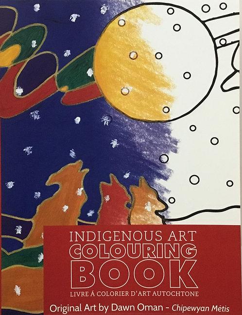 Indigenous Art Colouring Book - Dawn Oman - Chipewyan Metis