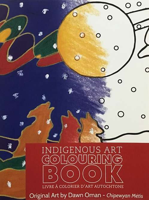 Indigenous Art Colouring Book - Dawn Oman - Chipewyan Metis