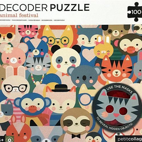 Animal Festival Decoder puzzle 100 pieces - Ages 4+