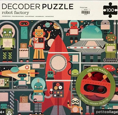 Decoder Robot Factory puzzle 100 pieces - Ages 4+