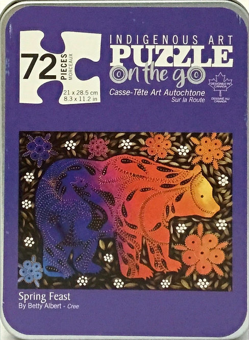 Spring Feast puzzle 72 pieces in tin box, by Betty Albert