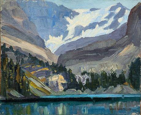 Lake O'Hara 1928, 8 x 10 Giclée on wood frame
