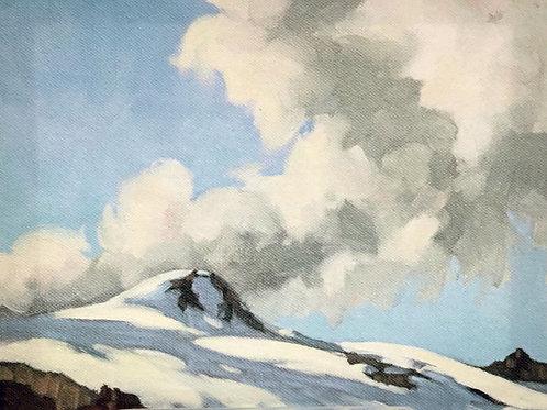 Yoho Peak, ca. 1930 - 1935, 8 x 10 Giclée on wood frame