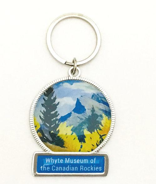 Mount Rundle, ca. 1930 - 1935 Enamel Keychain