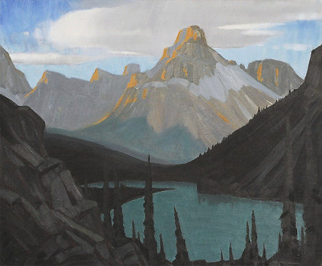 Mount Cathedral and Lake O'Hara, n.d., 8 x 10 Giclée on wood frame