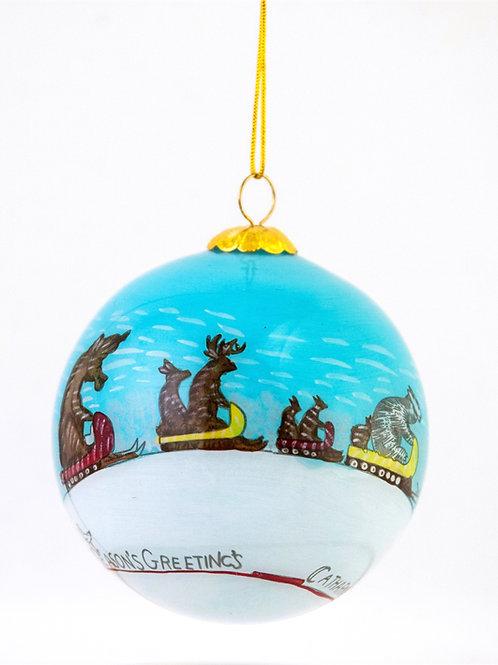 Animals on Sleighs, ca. 1930 - 1960, Ornament