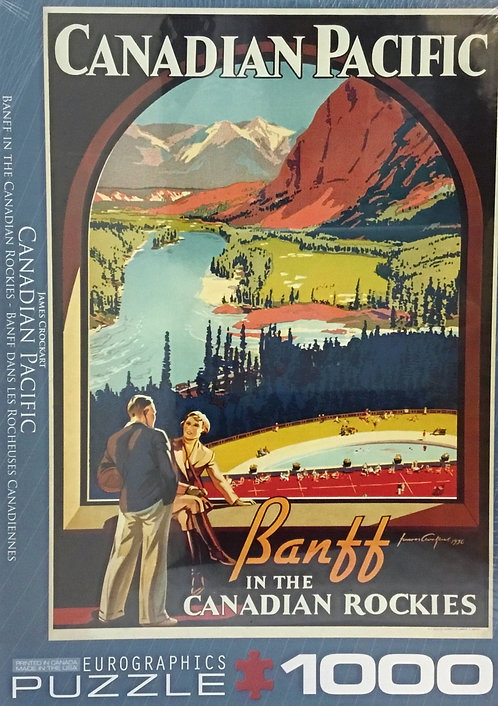 Banff in the Canadian Rockies CP puzzle 1000 pieces