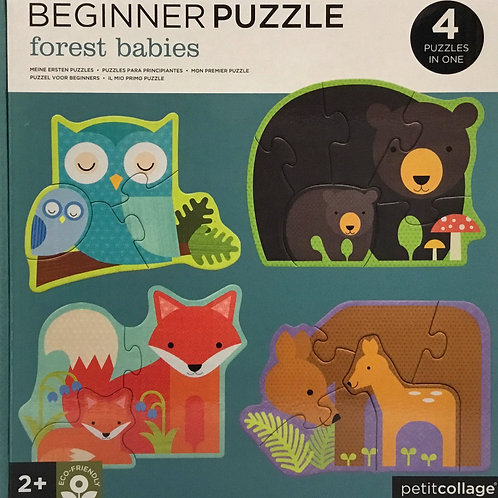 Forest Babies Beginner Puzzle - 4 puzzles in one - Ages 2+