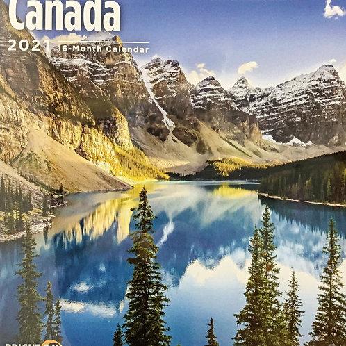 Canada 2021 - 16 Month Wall Calendar