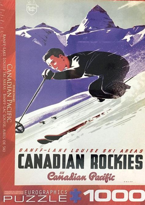 Banff-Lake Louise Ski Area CP puzzle 1000 pieces