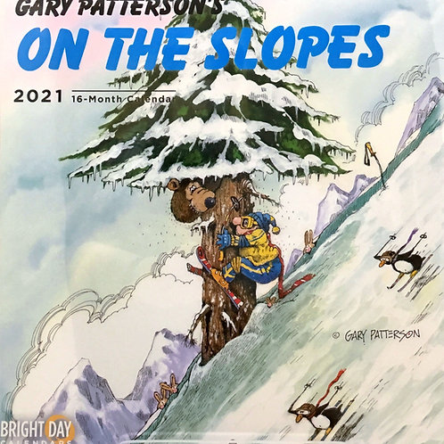 On the Slopes 2021 - Gary Patterson's 16 - Month Calendar