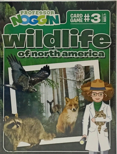 Wildlife of North America Trivia Game - Professor Noggin's - Ages 7+