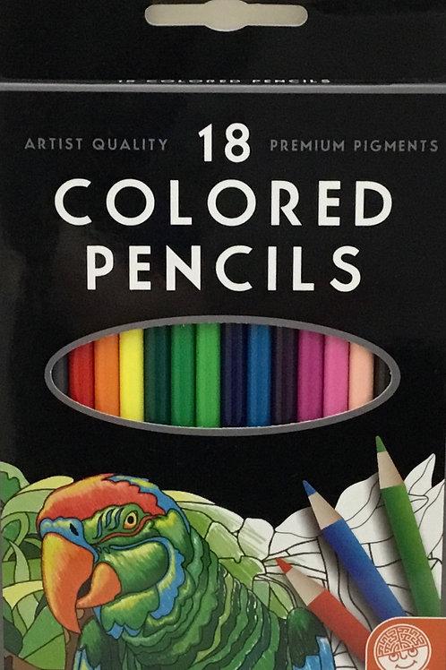 18 Colour (Color) Pencil Set