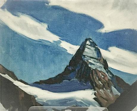 Mount Assiniboine, 8 x 10 Giclée on wood frame
