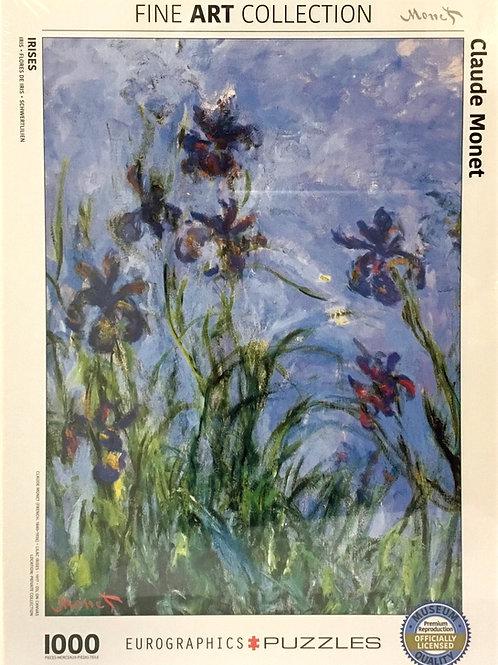 Irises puzzle 1000 pieces by Claude Monet
