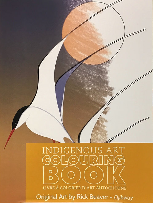 Indigenous Art Colouring Book - Rick Beaver - Ojibway