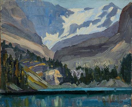 Lake O'Hara, 1928, 8 x 10 Giclée on wood frame