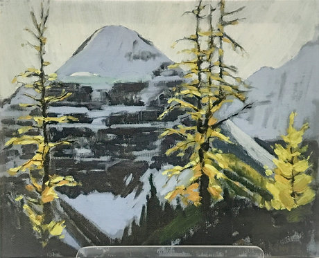 Mount Lefroy from Beehive, ca. 1955 - 1960, 8 x 10 Giclée on wood frame