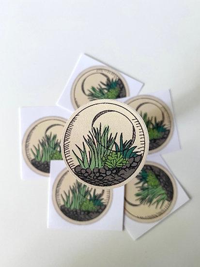 Circle Terrarium Sticker